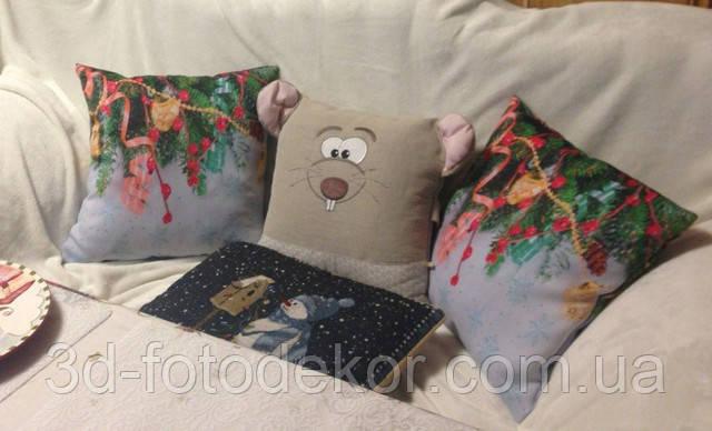 новорічні фото подушки