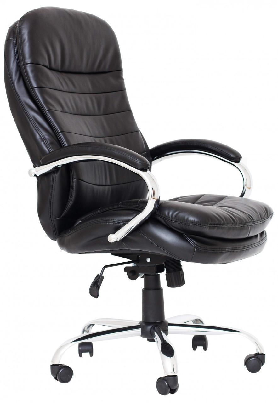 Офисное Кресло Руководителя Richman Валенсия В Хром М2 AnyFix Черное