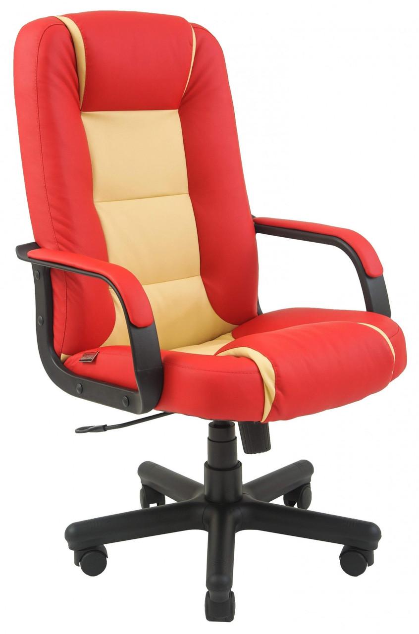 Офисное Кресло Руководителя Richman Челси Флай 2210-2201 Пластик Рич М2 AnyFix Красно-бежевое