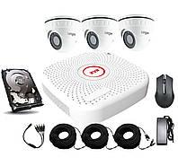 Внутренний комплект AHD видеонаблюдения Longse 2M3V c 3 камерами 2 Мп + HDD 500Гб