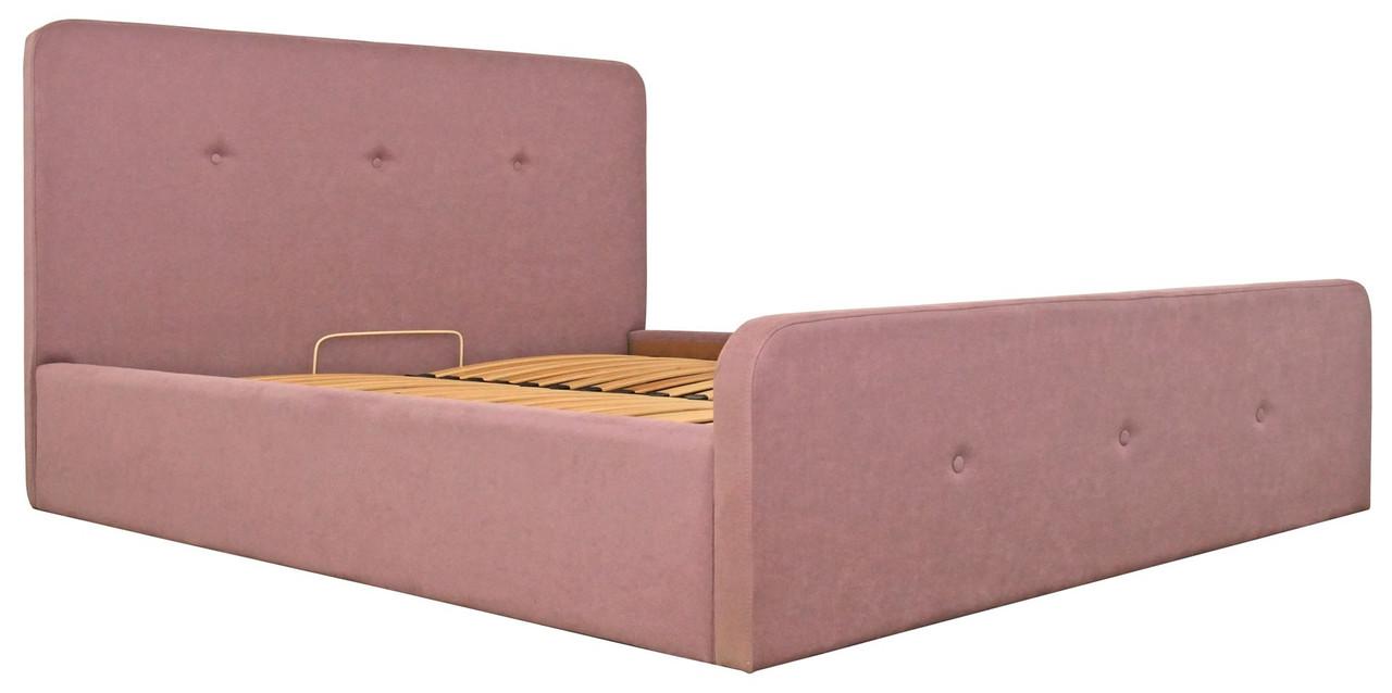 Ліжко Двоспальне Richman Мішель Vip 180 х 200 см Fibril 24 З додаткової металевої суцільнозварний рамою Рожева