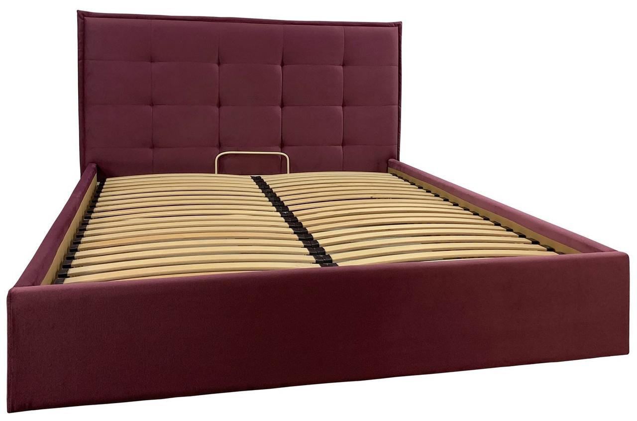 Кровать Richman Моника Comfort 140 х 200 см Missoni 28 С подъемным механизмом и нишей для белья Бордовая
