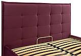 Кровать Richman Моника Comfort 140 х 200 см Missoni 28 С подъемным механизмом и нишей для белья Бордовая, фото 3