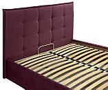 Кровать Richman Моника Comfort 140 х 200 см Missoni 28 С подъемным механизмом и нишей для белья Бордовая, фото 4