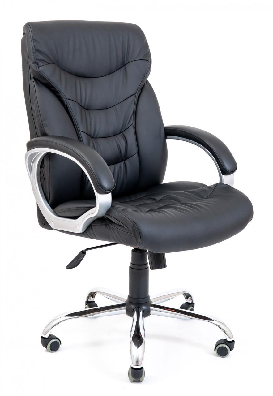 Офісне Крісло Керівника Richman Кальярі Fly 2300 Хром М2 AnyFix Чорне
