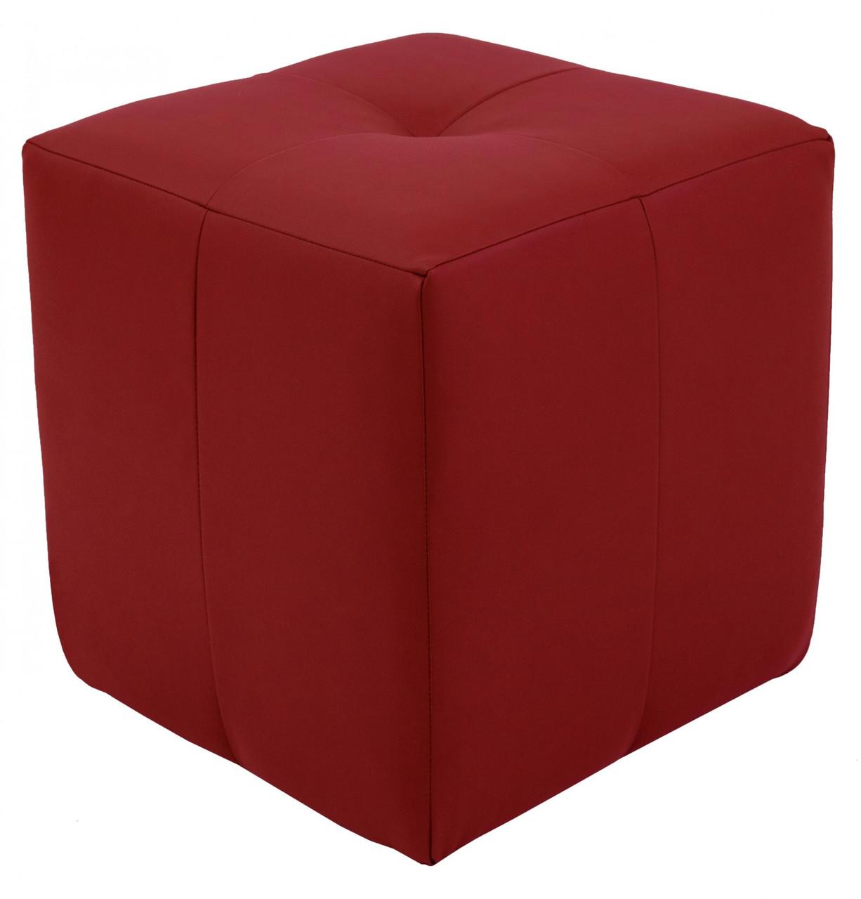 Пуфик Кристи Richman 40 x 40 x 45Н Zeus Deluxe Berry Красный