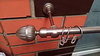 Карниз кованый одинарный 19мм Одеон сатин -2,4м