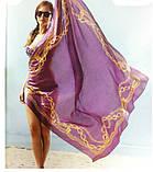 Яркое разноцветное большое  парео-платок  150 см, фото 4