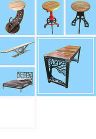 Табуреты, столы и лавки в стиле Лофт
