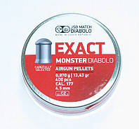 Пули JSB Exact Monster Diabolo 0,87 гр, 4,5 мм , фото 1