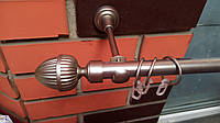 Карниз кованый одинарный 19мм Одеон сатин -1,6м