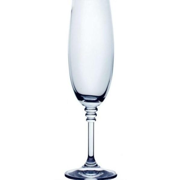 Набір келихів для шампанського 190 мл 6 шт Bohemia Olivia 40346/190