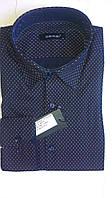 Элегантная Мужская рубашка DERGI с воротником на пуговицах приталенная с длинным рукавом код 6217-2