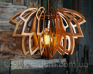 Люстра деревянная СОНЦЕ by smartwood   Люстра лофт   Дизайнерский потолочный светильник