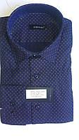 Элегантная Мужская рубашка DERGI с воротником на пуговицах приталенная с длинным рукавом код 6128-3