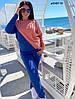 Двухцветный женский спортивный костюм ботал, две расцветки д41437 ГЛ, фото 2
