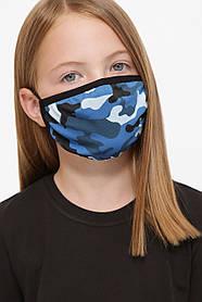 Захисна маска дитяча тканинна на резинці маска на підлітка