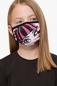 GLEMЗащитная маска дитяча тканинна на резинці маска на підлітка з принтом