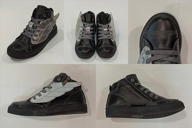 Детские ботинки-кеды, черные Constanta фото