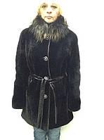 Шуба женская натуральная мутоновая с воротником