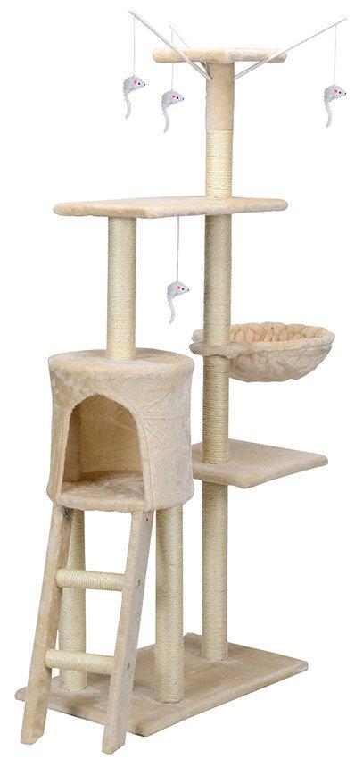Когтеточка Miki 138см бежевый цвет Дряпка Драпка Домик для кота