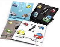 """Підставка для книг метал 1165 """"Cars"""", 18х15см уп30"""