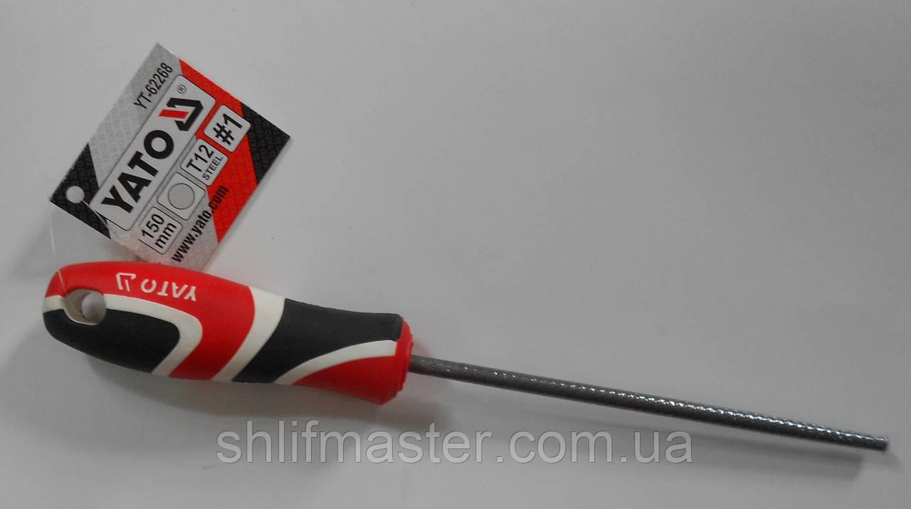 Напильник ручной по металлу YATO круглый 150 мм №1
