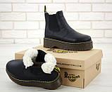 Женские зимние ботинки Dr. Martens 2976 Chelsea (Мех), др мартенс, жіночі черевики Dr Martens, ботінки мартінс, фото 7