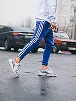 Мужские Спортивные штаны в стиле Adidas Thre line синие