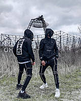 Спортивные штаны мужские Пушка Огонь Flare черные