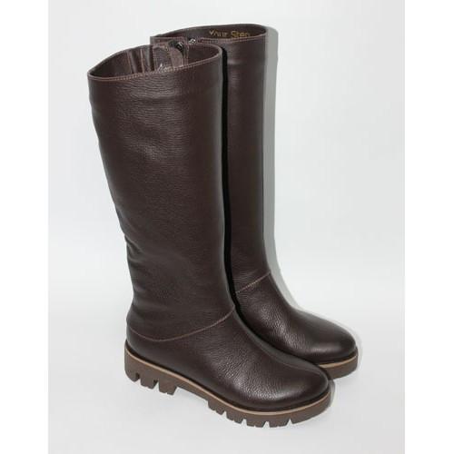Женская кожаная обувь от производителя. Женские кожаные сапоги на широкую голень