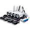 Комплект видеонаблюдения  WI FI с 4-мя камерами высокого разрешения PRO VISION UKC, готовый набор 8004 / 6673, фото 2