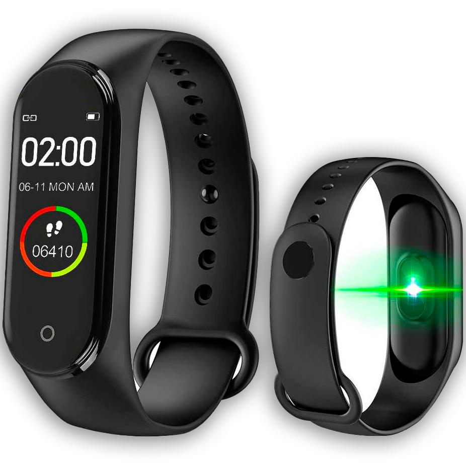 Фитнес браслет Smart Band M4 black реплика Xiaomi, функция измерения кислорода в крови
