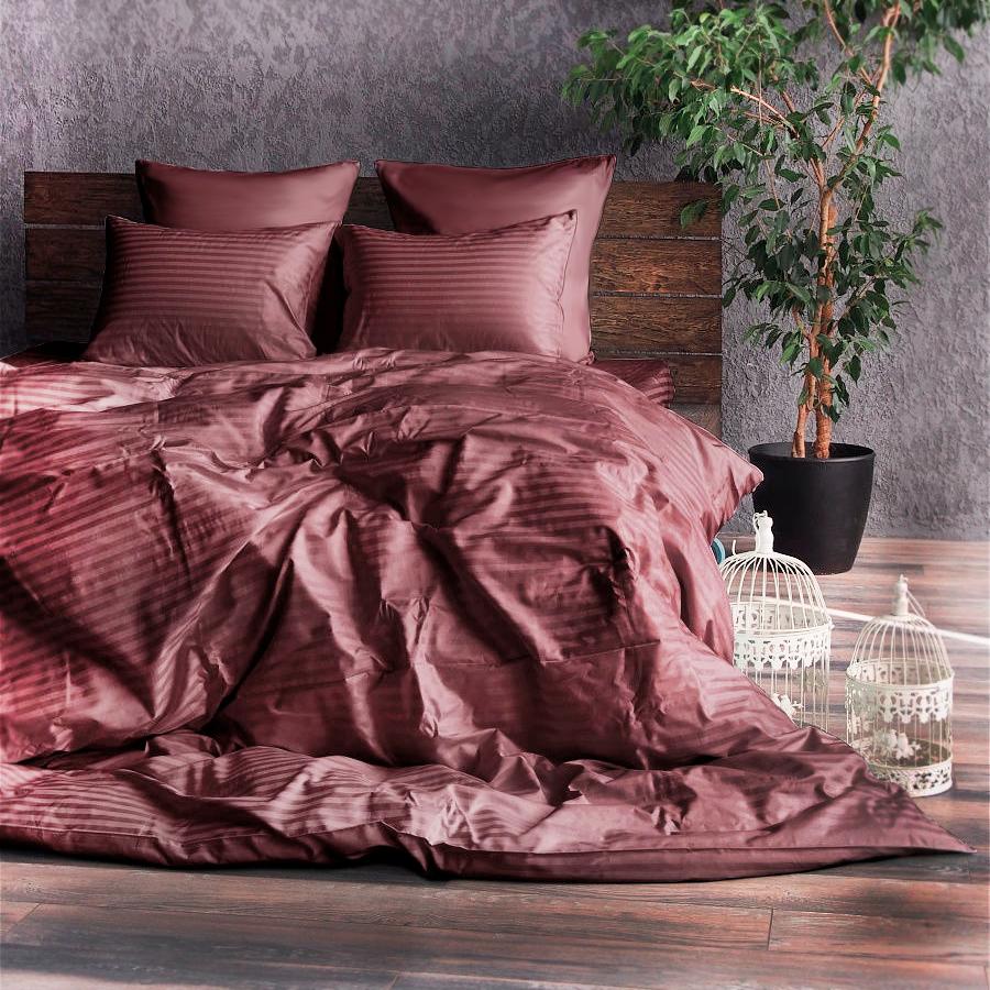 Двуспальный набор постельного белья Clasy Stripe design , сатин, Турция, разные цвета