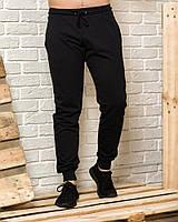 Черные мужские спортивные штаны весна-осень