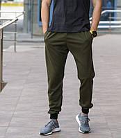 Оливковые (хаки) мужские спортивные штаны весна-осень