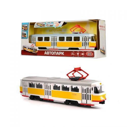 Дитячий іграшковий Трамвай із серії Автопарк Жовтий 9708B