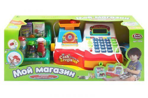 """Детский игрушечный Кассовый аппарат с микрофоном """"Мой магазин"""" 7256"""