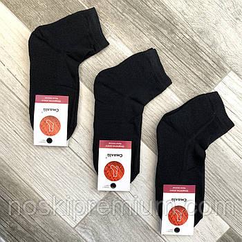 Носки женские махровый след хлопок Смалий, 23-25 размер, чёрные
