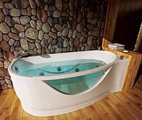 Левосторонняя гидромассажная ванна с врезным смесителем Triton Милена, 1700х940х625 мм
