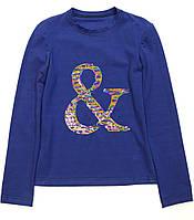 Кофта для девочки подростка 00013  с пайетками синяя