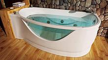 Правосторонняя гидромассажная ванна с врезным смесителем Triton Милена, 1700х940х625 мм