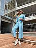 Женский стильный легкий костюм: свободная футболка и штаны кюлоты, фото 2