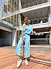 Женский стильный легкий костюм: свободная футболка и штаны кюлоты, фото 3
