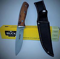 Охотничий нож с чехлом Buck, рукоятка из палисандра. Универсальные ножи для рыбалки, охоты и туризма., фото 1