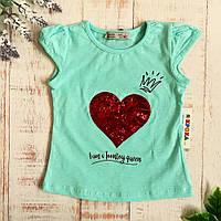 Детская футболка для девочки, мятная (174-10778), Toontoy 104 (4 года) р. Мятный