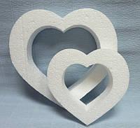 Сердце из пенопласта контурное, 16см