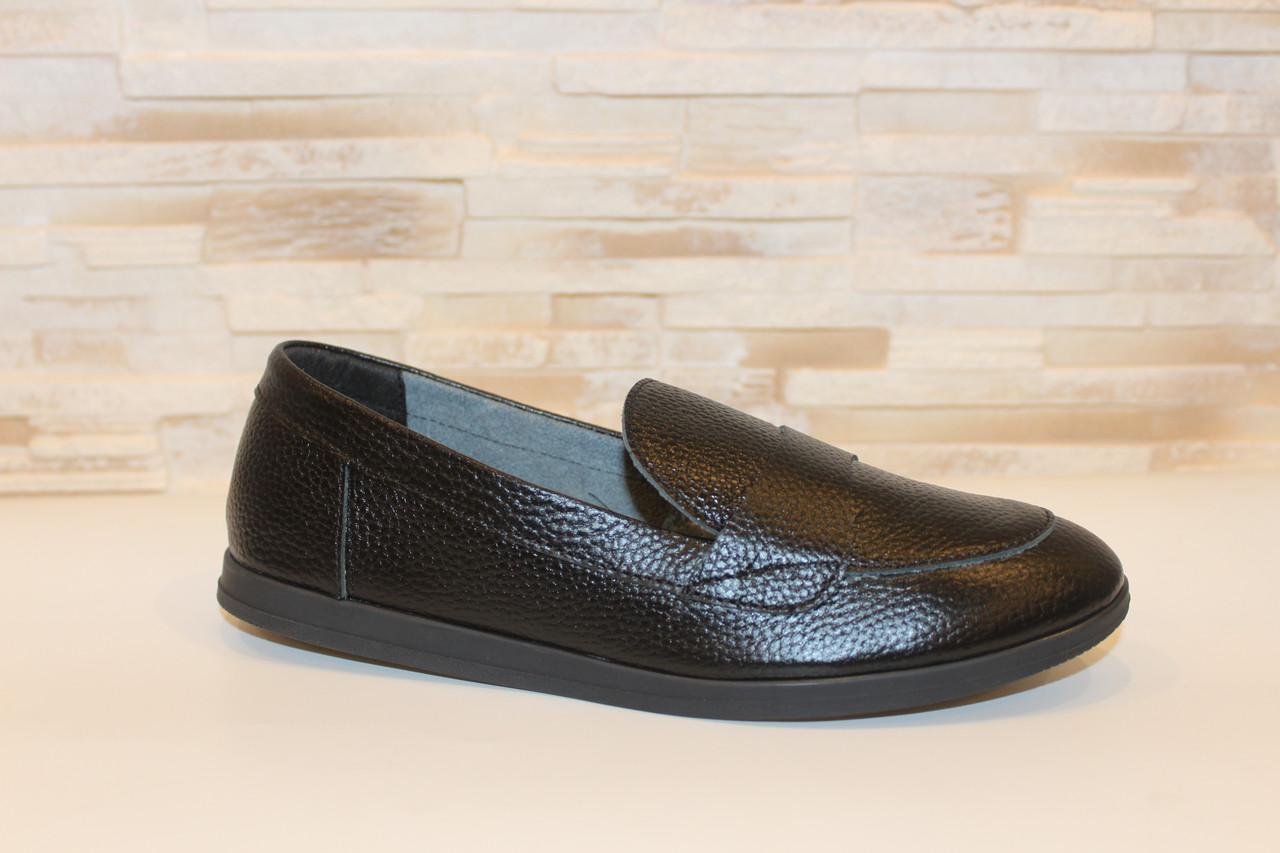 Туфли женские черные натуральная кожа Т1150