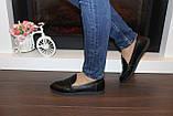 Туфли женские черные натуральная кожа Т1150, фото 5
