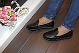 Туфли женские черные натуральная кожа Т1150, фото 6